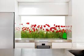 Digitally Printed Glass Splashback For Kitchen