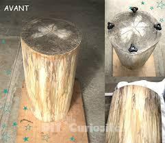 deco tronc d arbre table en tronc d arbre 5 tuto tronc darbre recycl233