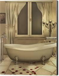 badezimmer mit kerzen und rosenblättern