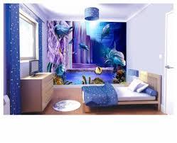 3d vinyl tapete zimmer blau möbel innenarchitektur