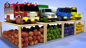 100 Garbage Truck For Kids 2412 MB Lets Learn Colors Fruit With Fire Truck Truck