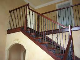 Wrought Iron Stair Railing Designs : Beautifying House With Iron ... Wrought Iron Stair Railing Idea John Robinson House Decor Exterior Handrail Including Light Blue Wood Siding Ornamental Wrought Iron Railings Designs Beautifying With Interior That Revive The Railings Process And Design Best 25 Stairs Ideas On Pinterest Gates Stair Railing Spindles Oil Rubbed Balusters Restained Post Handrail Photos Freestanding Spindles Installing
