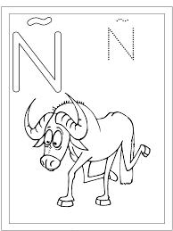 Letra Ñ Ñu Dibujalia Dibujos Para Colorear Números Letras