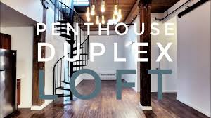 100 Duplex Nyc Penthouse Loft With City Views Private Rooftop Video Tour NYC Brooklyn NY