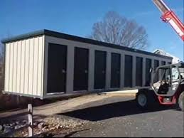 Prefabricated Self Storage Buildings Delivered Ready To Rent