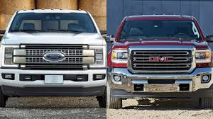 2017 Ford F Series Super Duty Vs GMC Sierra - YouTube Gmc Comparison 2018 Sierra Vs Silverado Medlin Buick F150 Linwood Chevrolet Gmc Denali Vs Chevy High Country Car News And 2017 Ltz Vs Slt Semilux Shdown 2500hd 2015 Overview Cargurus Compare 1500 Lowe Syracuse Ny Bill Rapp Ram Trucks Colorado Z71 Canyon All Terrain Gm Reveals New Front End Design For Hd