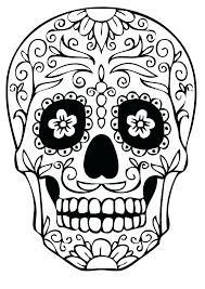 Free Sugar Skull Coloring Pages For Adults Download Kids
