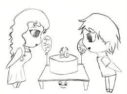 Birthday drawing by AquaMajica