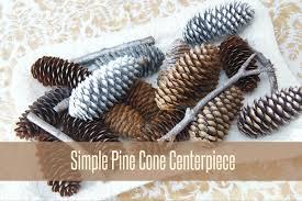 Pine Cone Christmas Tree Centerpiece by Simple Pine Cone Centerpiece Heartworkorg Com