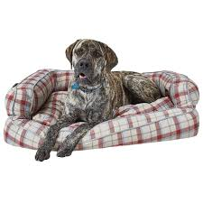 Arlee Home Fashions Dog Bed by Live Love Bark Neutral Plaid Bolster Dog Bed 43x29 U201d Save 48