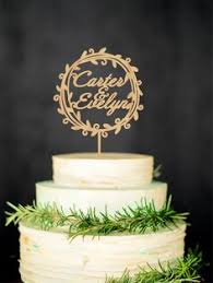 Personalized Rustic Cake Topper Custom Wood Names By WeddingRusticDeco On