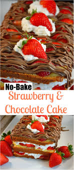 No Bake Strawberry & Chocolate Cake Recipe Layer after layer of buttery pound cake
