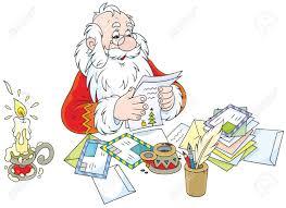 Santa Claus Y Cartas De Los Niños Fotos Retratos Imágenes Y