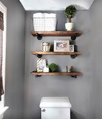 DIY Bathroom Shelves To Increase Your Storage Space For Wall Designs 15