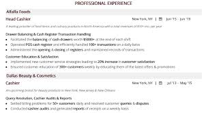 Cashier Resume: The Complete 2019 Guide With 20+ Samples ... How To Write A Perfect Cashier Resume Examples Included Picture Format Fresh Of Job Descriptions Skills 10 Retail Cashier Resume Samples Proposal Sample Section Example And Guide For 2019 Retail Samples Velvet Jobs 8 Policies And Procedures Template Inside Objective Huzhibacom Rponsibilities Lovely Fast Food