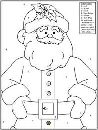 FREE Printable Christmas Color By Number Pages