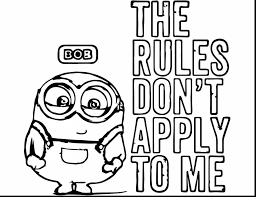 Astonishing Bob Minion Coloring Pages With Free And Online