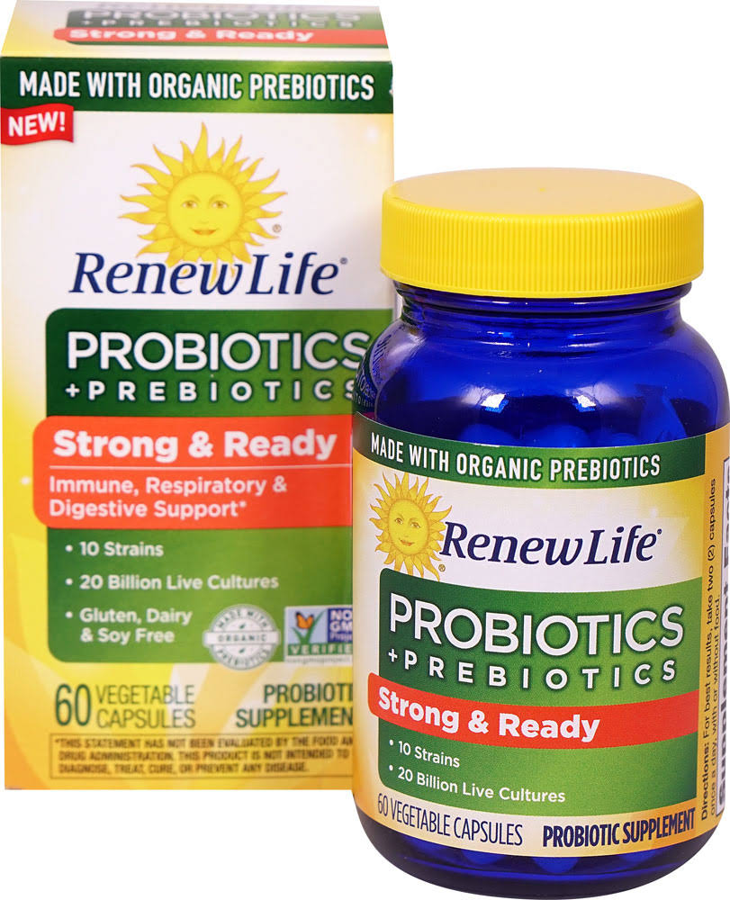 Re New Life Immune Respiratory and Digestive Support Probiotic Supplement