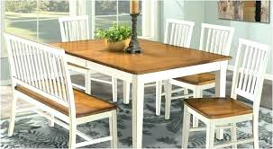 Dining Room Table With Bench Seat Refinish Kitchen Seating And