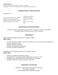 Beautiful Resume Objective Banking In For Bank Teller Template Objectives Resum Large Size