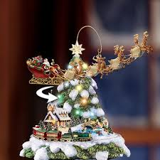 Christmas Tree Amazon Prime by Amazon Com Thomas Kinkade Wonderland Express Animated Tabletop