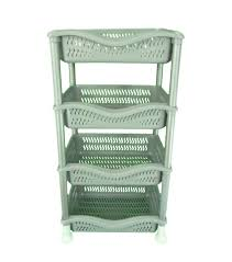 4 Tier Plastic Family Ve able Kitchen Storage Rack in 2 Colours