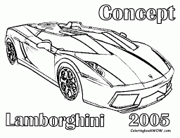 Lamborghini Coloring Pages Kids