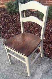 Press Back Chairs Oak by Vintage Dining Chairs Refinished Expresso Stain Castle Gray