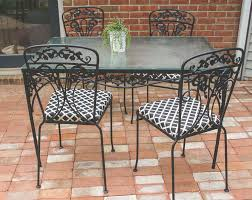 How To Paint Wrought Iron Furniture The Easy Way! Hampton Bay Statesville 5piece Padded Sling Patio Ding Set With 53 In Glass Top Garden Fniture Wikipedia 6 Seater Outdoor Fniture Table And Chairs Cushion Sets Mandaue Foam Great Round Remodel Torino 7 Piece A Guide To Chair Height Branch Outdoor Table Metal From Trib 4 Bistro Steel Heart Cream Devoko 9 Pieces Space Saving Rattan Cushioned Seating Back Sectional
