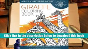 Popular Book Giraffe Coloring An Adult Of 40 Zentangle Designs With