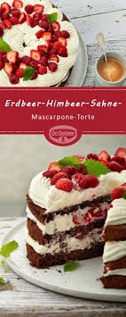 erdbeer himbeer sahne mascarpone torte mascarpone cake
