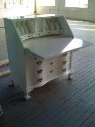 Antique Secretarys Desk by Handmade Antique Mahogany Secretary Desk White Lacquer By Alps