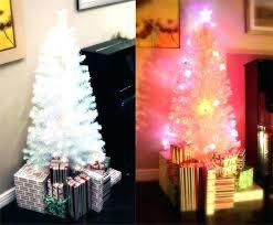 White Fiber Optic Christmas Tree 6 Ft Lit Multi Color Led With 7 Trees For Walmart