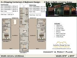 100 Homes From Shipping Containers Floor Plans 2 Bedroom Container House Plans 2 Bed Container