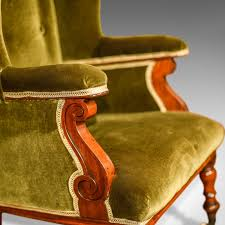 Chairs : Antique Wing Back Chair Victorian Green Velvet Wingback ... Early Victorian Mahogany And Leather Armchair C 1850 United 19th Century Pair Of English Armchairs For Sale Stunning Antique Marylebone Antiques Quality 1870 England From Deep Buttoned C1850 429276 Burgundy Gentlemans Chairs Accent Chair Whit Oval Back And Arm Occasional Ideas