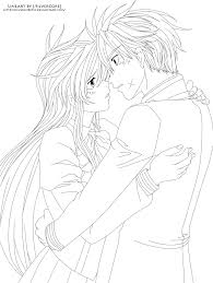Anime Couples Coloring Pages Colouring Page 2 In To Download
