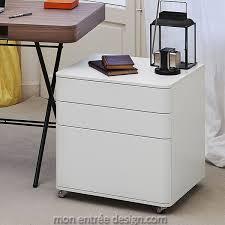 bureaux blanc laqué caisson design laqué blanc à 3 tiroirs cosimo adentro achat