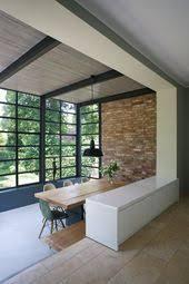 blick ins grüne vom wohnzimmer erweiterung esszimmer