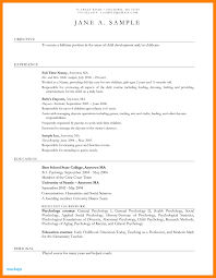 Daycare Resume Examples Child Care Provider Objective At Sample Ideas