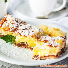 low carb kokos ananas kuchen rezept ohne zucker