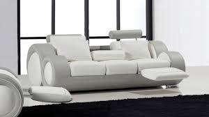 canapé 3 places relax et design en cuir mobilier moss