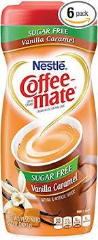 Nestle Coffee Mate Creamer Sugar Free Vanilla Caramel Pack Of 6 102