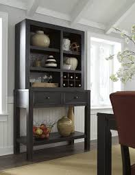 Gavelston Dining Room Server And Hutch Set Vintage Black Rustic Industrial Chic In Home Garden Furniture Sideboards Buffets