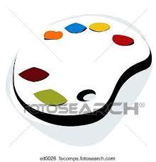Fancy Artist Palette Clipart Eit0026