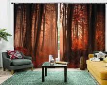 ستائر تعتيم من vorhang schlafzimmer لعام 2019 ستائر لغرفة المعيشة والمناظر الطبيعية في الغابات ستائر أوروبية للشباك