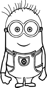 Cute Basic Minion Coloring Page