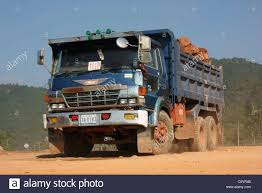 Japanese Manufactured Hino FS66 Dump Truck During Road Construction ...