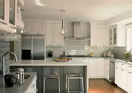 kitchens stainless steel backsplashes for modern kitchen image