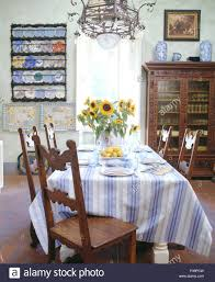 Antique Wooden Chairs At Table Set For Lunch With Blue+white Striped ... Normandy Round Ding Table And 4 Skandi Chairs Tuscan Spanish 3 Sizes Trestle Bedroom Comfy For Elegant Room Unique Heals Heals Bernards Fniture Group Casual Annecy Arhaus Small With Teal Chair And 52 Off Pier 1 Imports Chesington Brown Bar 60 Inch Outdoor Patio 6 Ebay Tables Tuscan Ding Room Fniture Set Marceladickcom Avondale Dinner Perfect Sets Upholstered Style Sovereign