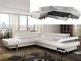 canapé d angle lit canapé d angle convertible en simili damien noir ou blanc